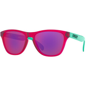 Oakley Frogskins XS Sunglasses matte translucent crystal pink/prizm road